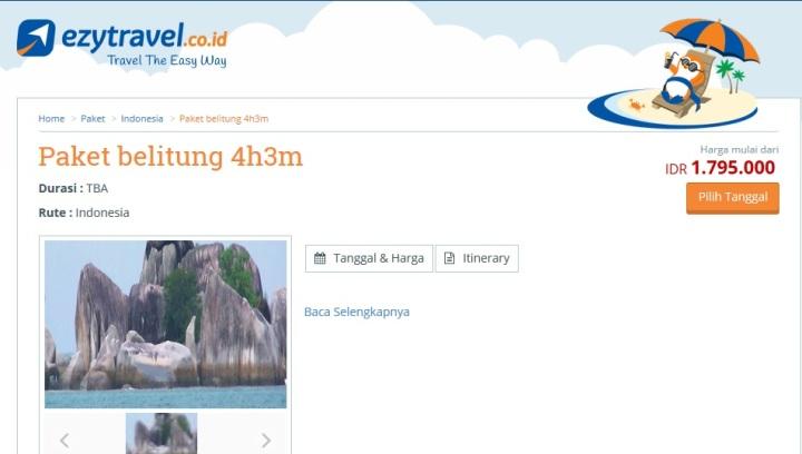 paket belitung 4h3m