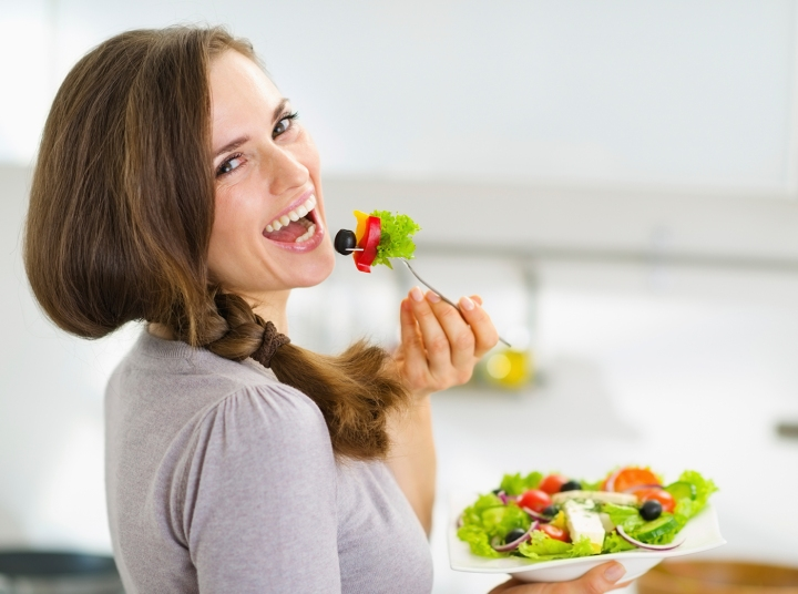 Eat healthy, feel healthy and be happy.